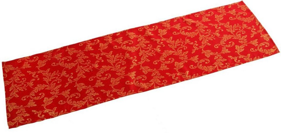 Dreams Lurex Tischdecke in rot/goldfarben