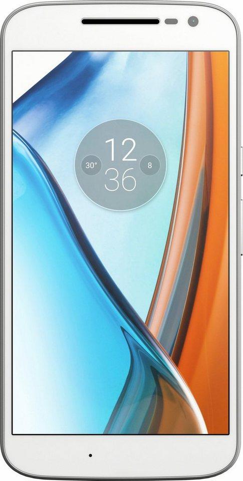 Lenovo Moto G (4. Gen.) Smartphone, 13,97 cm (5,5 Zoll) Display, LTE (4G), 13,0 Megapixel in weiß