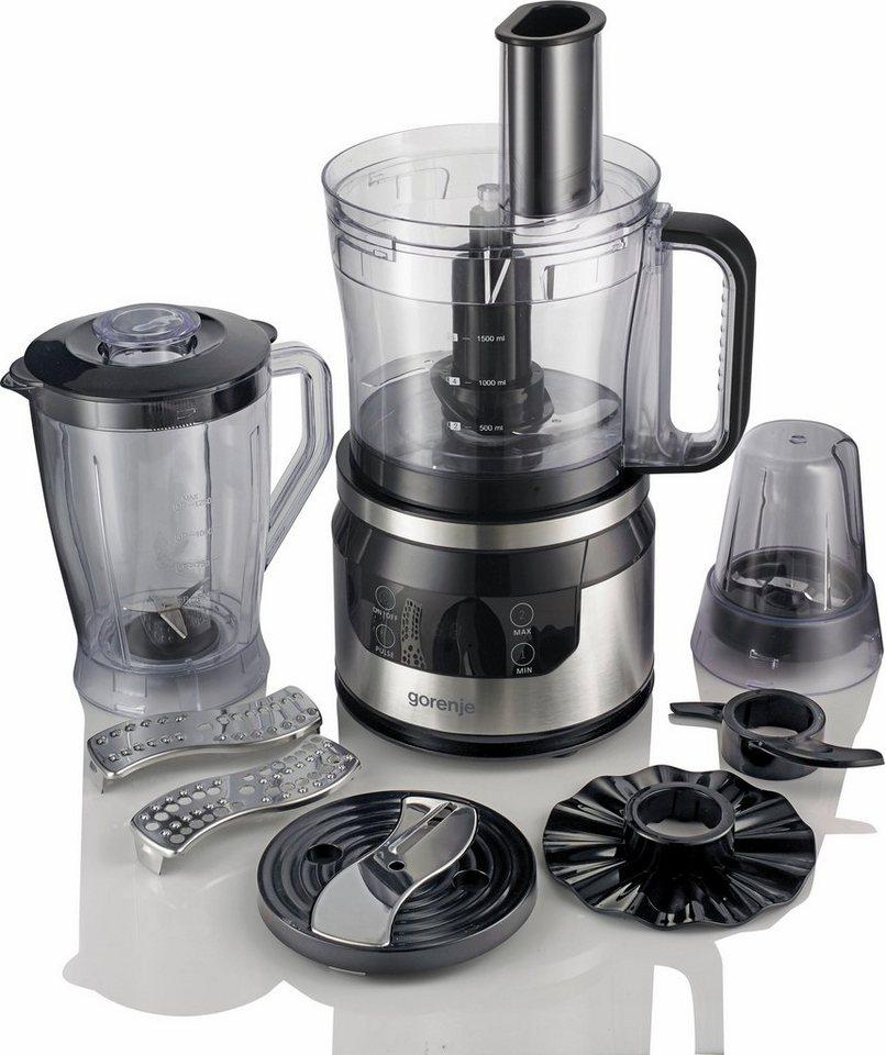Gorenje Küchenmaschine Chefs Collection SBR800HC, mit Zubehör, 800 Watt in edelstahl-schwarz