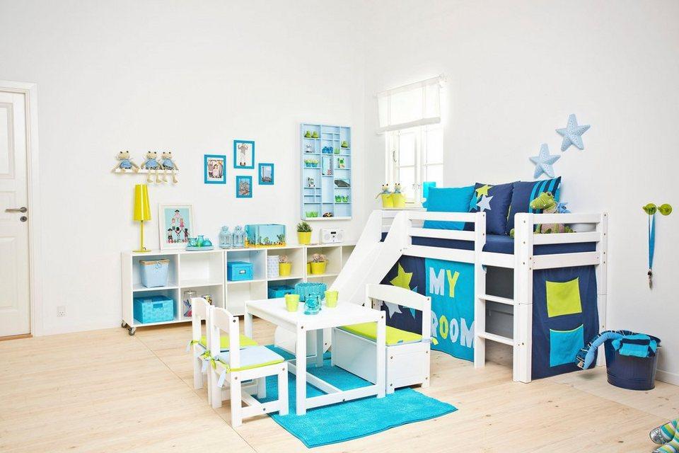 Halbhohes Bett, Hoppekids, »My Room« in weiß