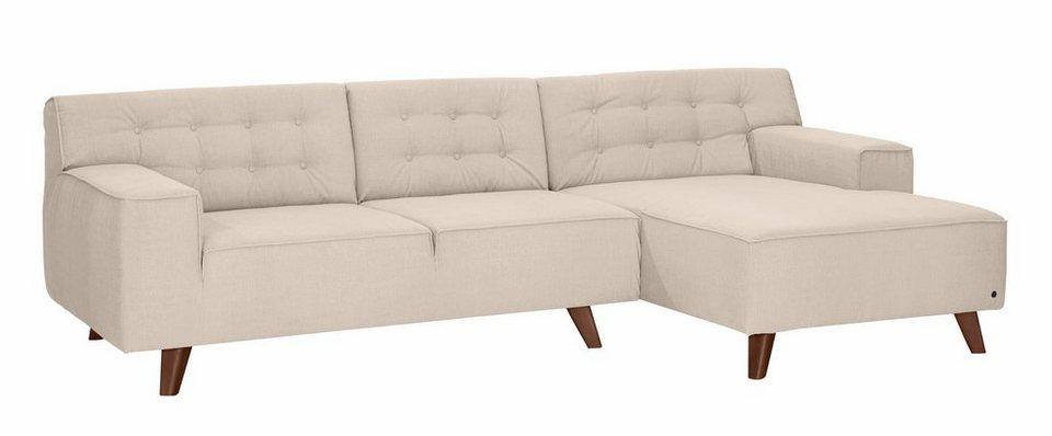 tom tailor polsterecke mit recamiere nordic chic im retrolook f e nussbaumfarben online. Black Bedroom Furniture Sets. Home Design Ideas