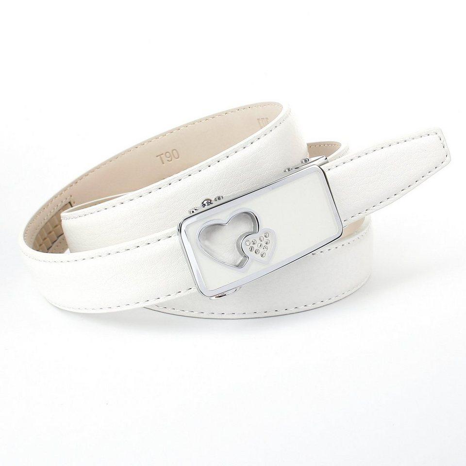 Anthoni Crown Ledergürtel in Weiss