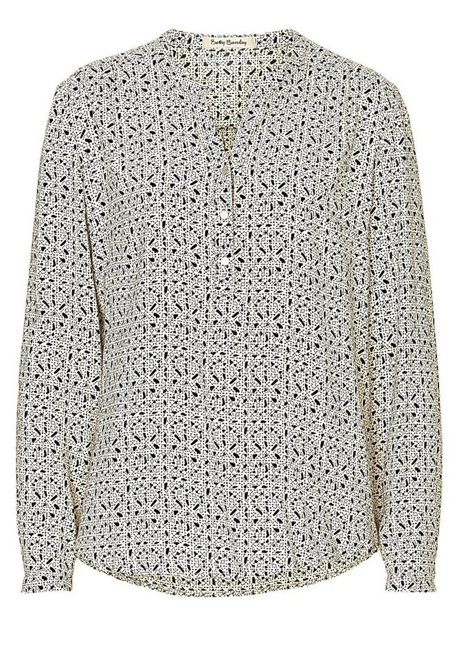Betty Barclay Bluse in Beige/Schwarz - Bunt