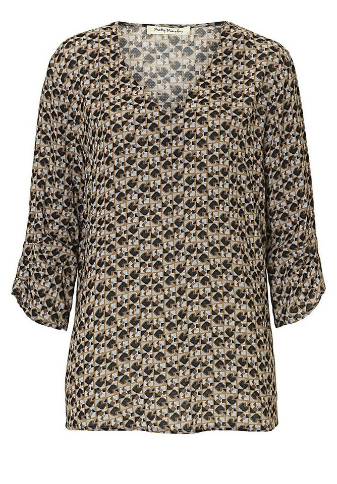 Betty Barclay Bluse in Dark Green/Black - G