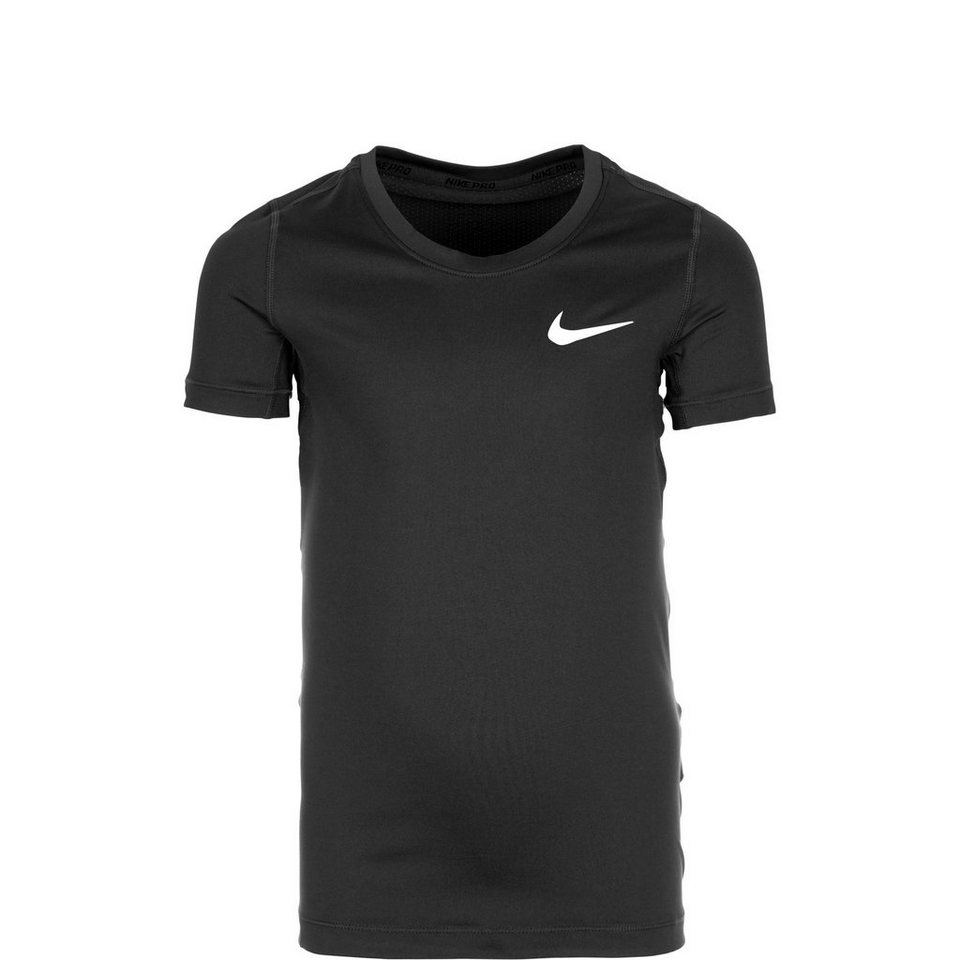NIKE Pro Trainingsshirt Kinder in schwarz / weiß