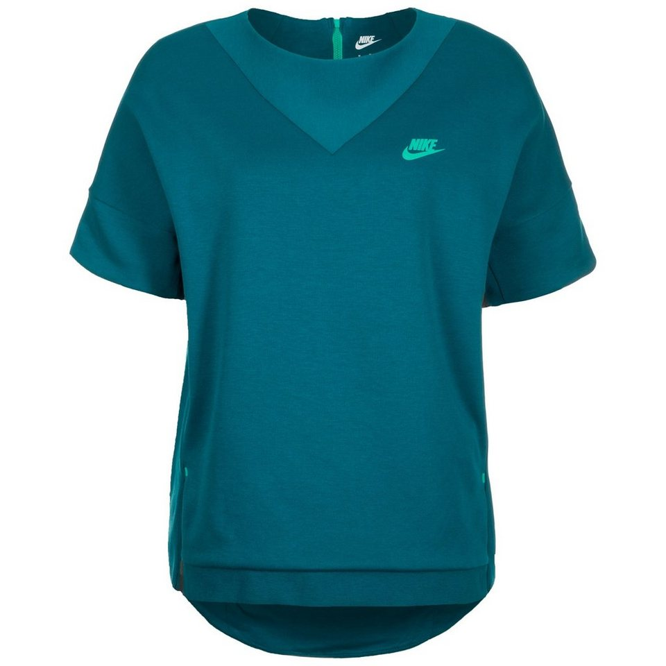 Nike Sportswear Tech Fleece Crew Sweatshirt Damen in petrol / grün