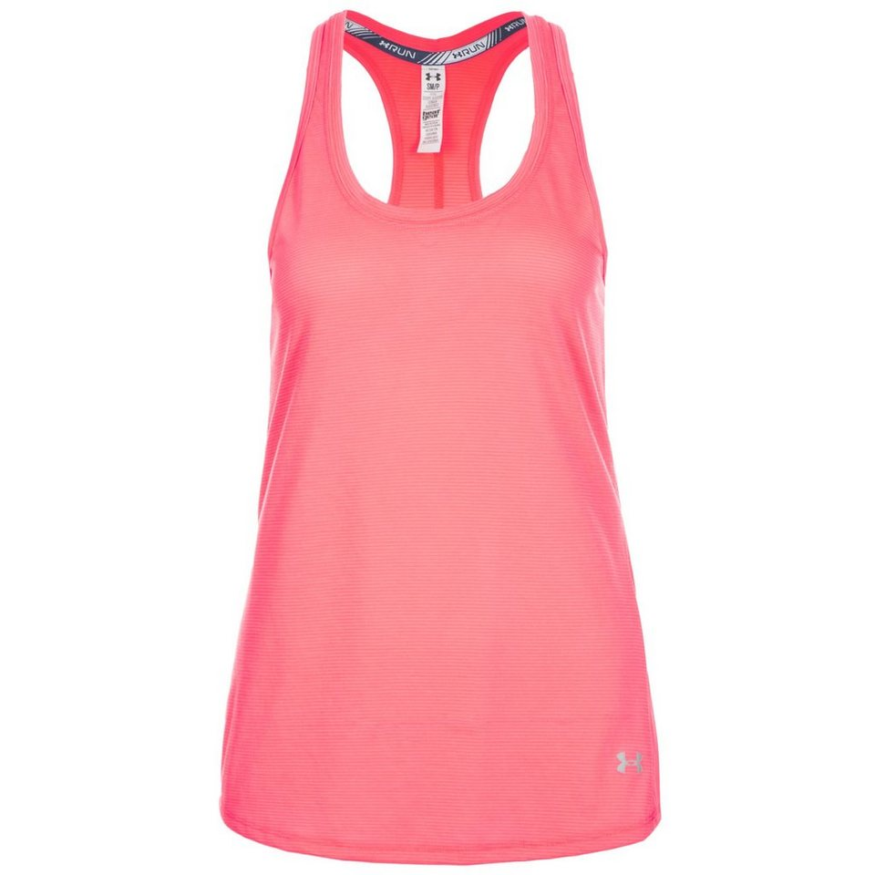 Under Armour® HeatGear Streaker Lauftank Damen in pink