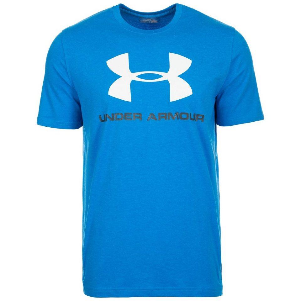 Under Armour® HeatGear CC Sportstyle Logo Trainingsshirt Herren in blau / weiß