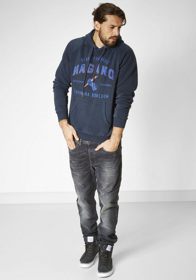 NAGANO Sweatshirt »KARASU« in navy