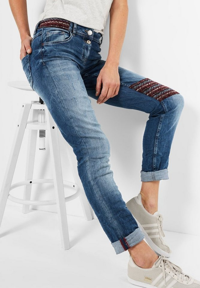 CECIL Denim mit Flicken Scarlett in authentic used wash