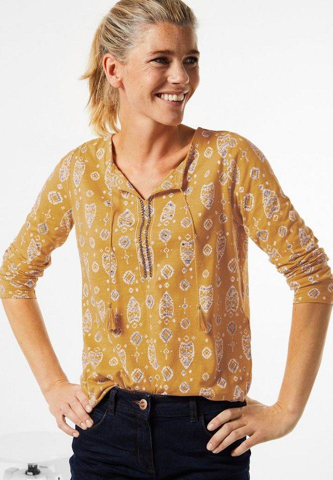 CECIL Tunikashirt im Boho Style in golden glow