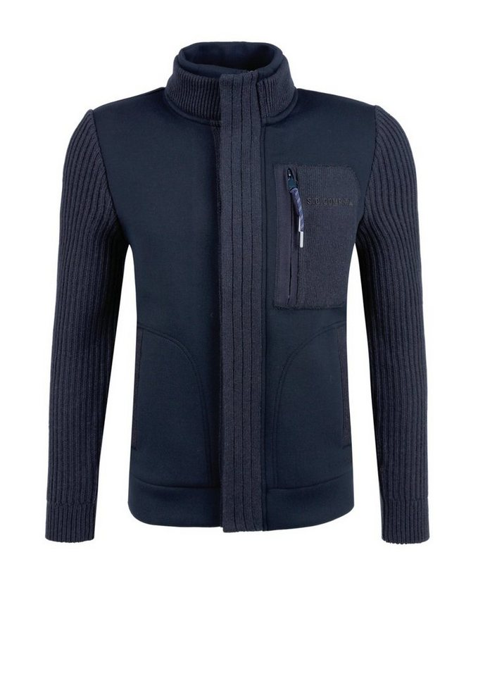 s.Oliver RED LABEL Jacke im Materialmix in midnight navy