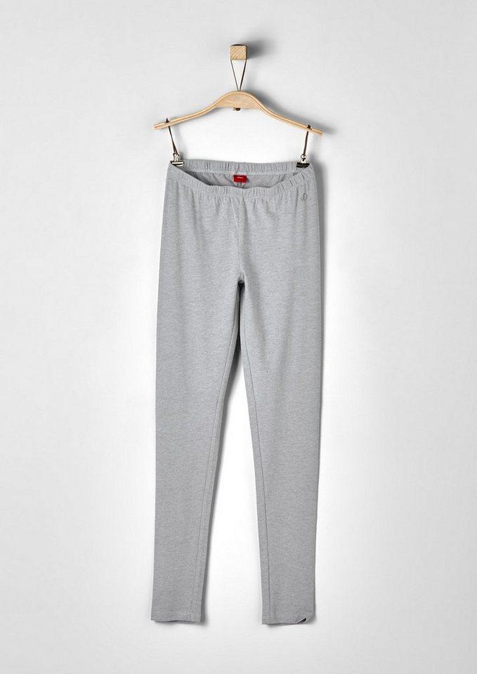s.Oliver RED LABEL Junior Jersey-Leggings für Mädchen in grey melange