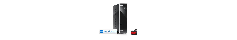 CSL Mini PC   AMD A4-5000   Radeon HD 8330   4GB DDR3   120GB SSD »Ultra Silent 5000-2 Windows 10«