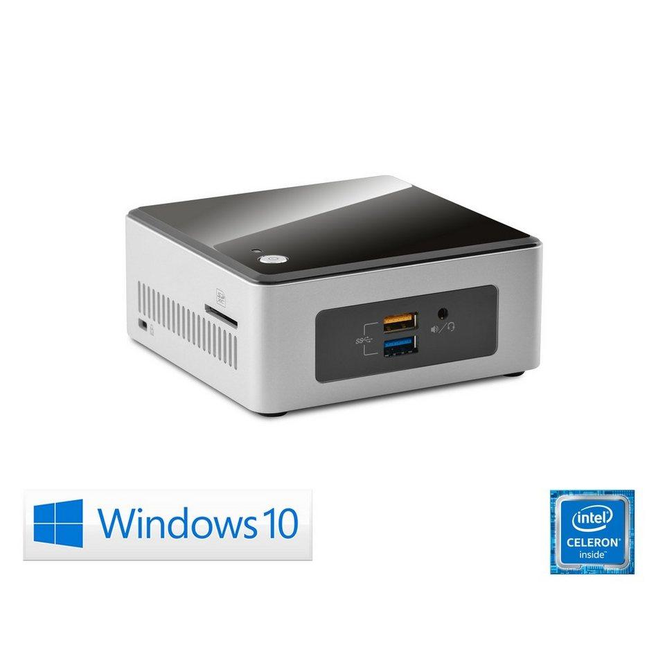CSL Mini PC   Celeron N3050   Intel HD   4 GB RAM   SSD »Intel NUC Celeron N3050-2 Windows 10« in schwarz