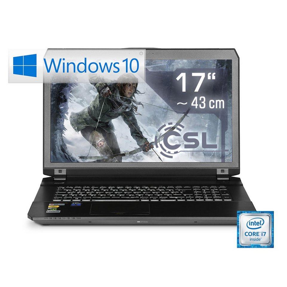 "CSL Gaming Notebook   i7-6700HQ   GTX 1070   16 GB DDR4   500 GB SSD »17.3"" Display - Gamer 1020« in schwarz"