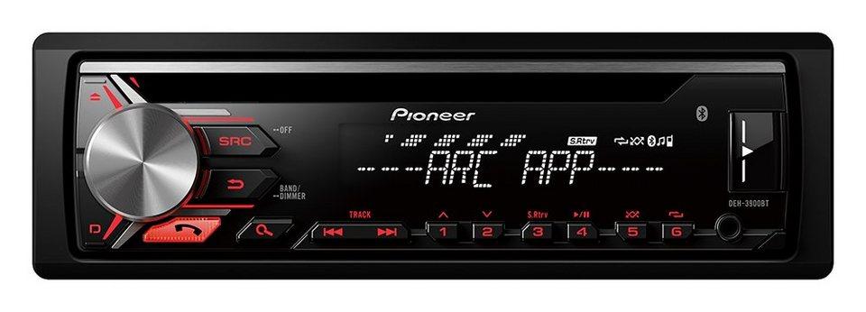 PIONEER 1-DIN Autoradio »DEH-3900BT« in schwarz
