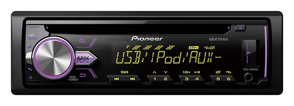 PIONEER 1-DIN Autoradio »DEH-X2900UI« in schwarz