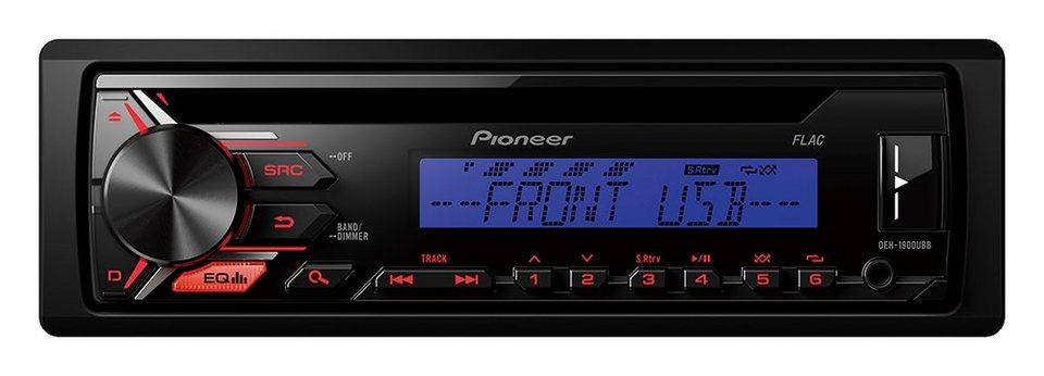 PIONEER 1-DIN Autoradio »DEH-1900UBB« in schwarz