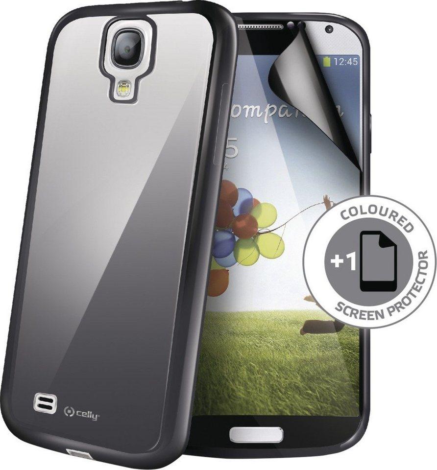 Celly PVC BackCover für das Galaxy S4 »Sunglass Cover« in schwarz