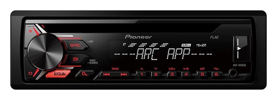 PIONEER 1-DIN Autoradio »DEH-1900UB« in schwarz