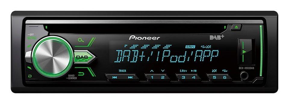 PIONEER 1-DIN Autoradio »DEH-4900DAB« in schwarz