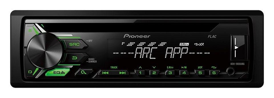 PIONEER 1-DIN Autoradio »DEH-1900UBG« in schwarz