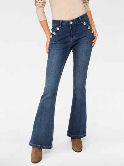 RICK CARDONA by Heine Flared-Jeans im Used-Look Sale Angebote