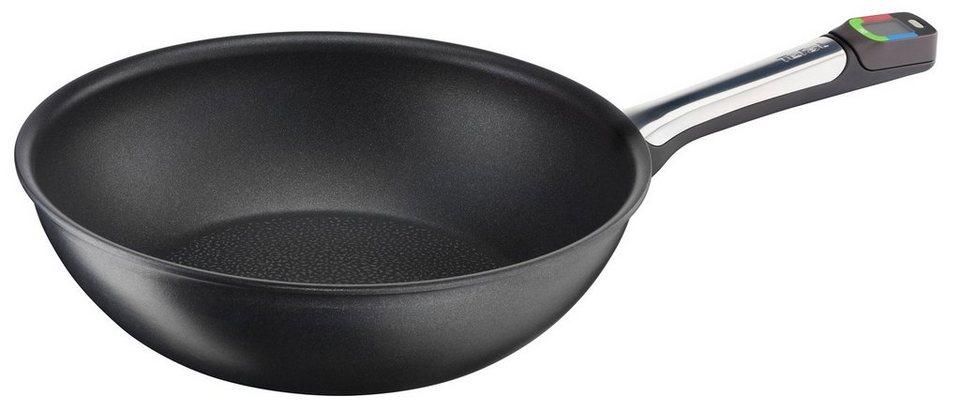 Tefal My Cooking Guide Wokpfanne 28 cm, »E55119«, Aluminium, Induktion in schwarz