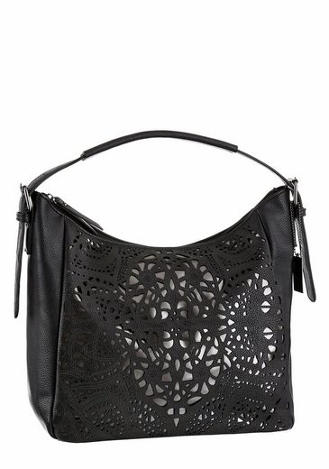 Bruno Banani Shoulder Bag, With Elaborate Lyra Perforation