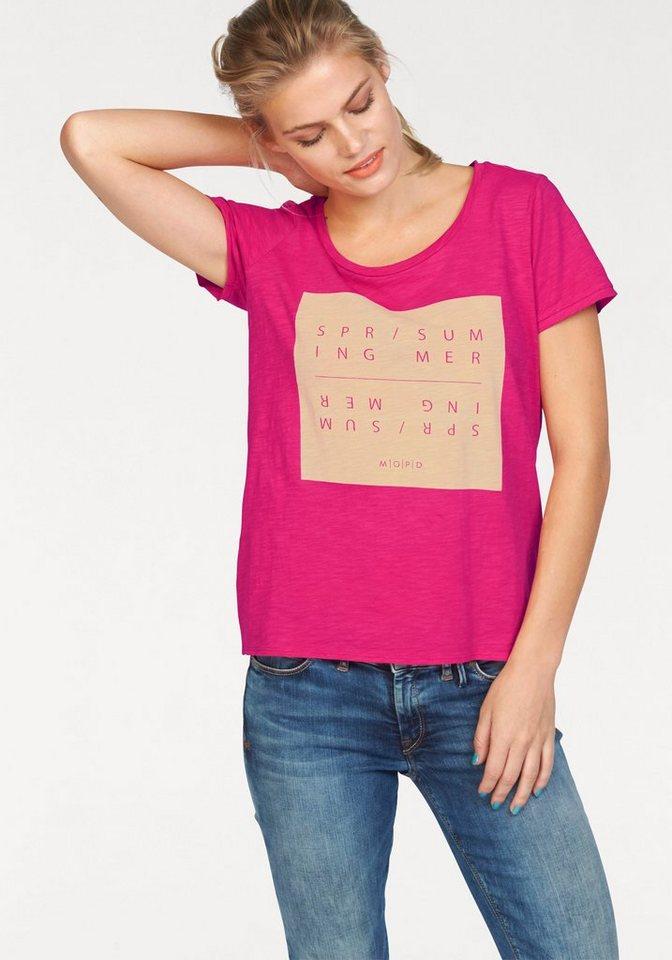 Marc O'Polo DENIM T-Shirt mit großem Frontprint in pink-bedruckt