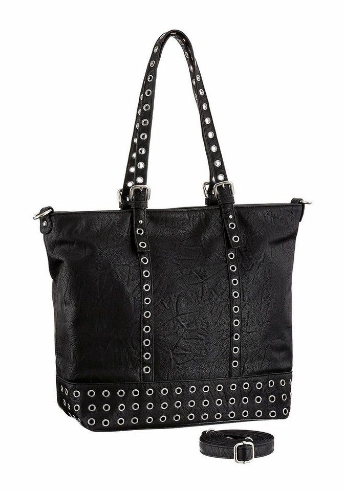 Melrose Shopper mit Nietenbesatz in schwarz