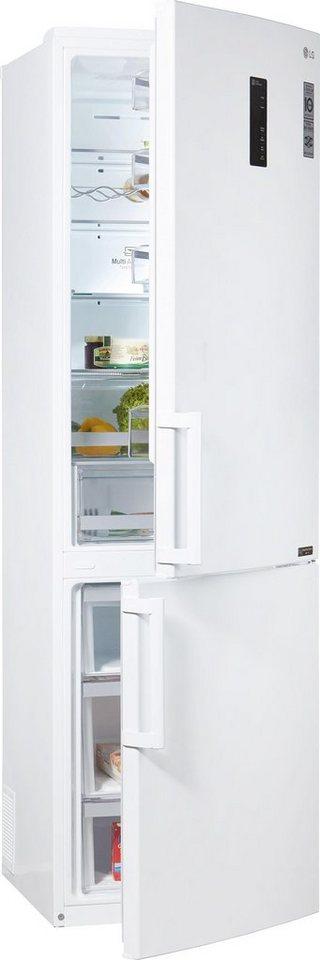 LG Kühl-Gefrierkombination GBB60SWFFB, Energieklasse A+++, 201 cm hoch, NoFrost in premium weiß