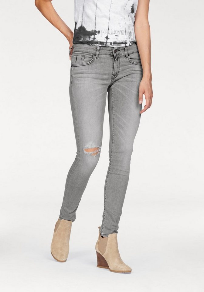 Replay Slim-fit-Jeans mit Stretch in grey