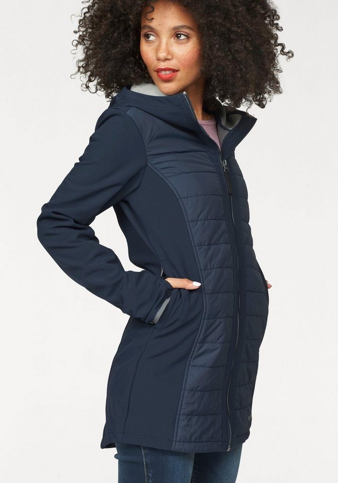 Bench Softshelljacke mit Steppung vorne in navy