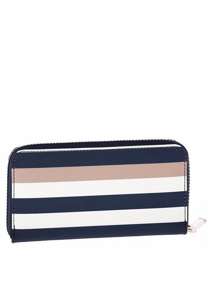 Tommy Hilfiger Geldbörse »Wallet Corporate« mit Colour-Blocking in dunkelblau-sand-weiß