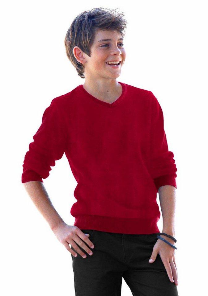 Arizona V-Ausschnitt-Pullover in rot
