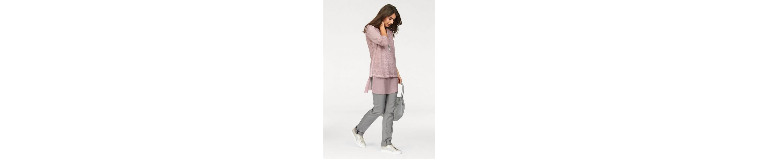 Boysen's Longshirt (Set, mit Top), im Lagen-Look mit Pailletten