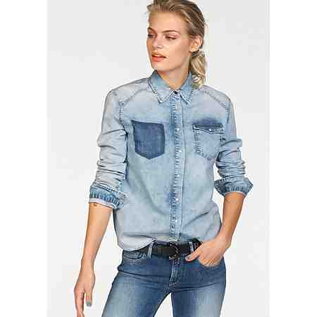 Replay Jeansbluse mit Stretch