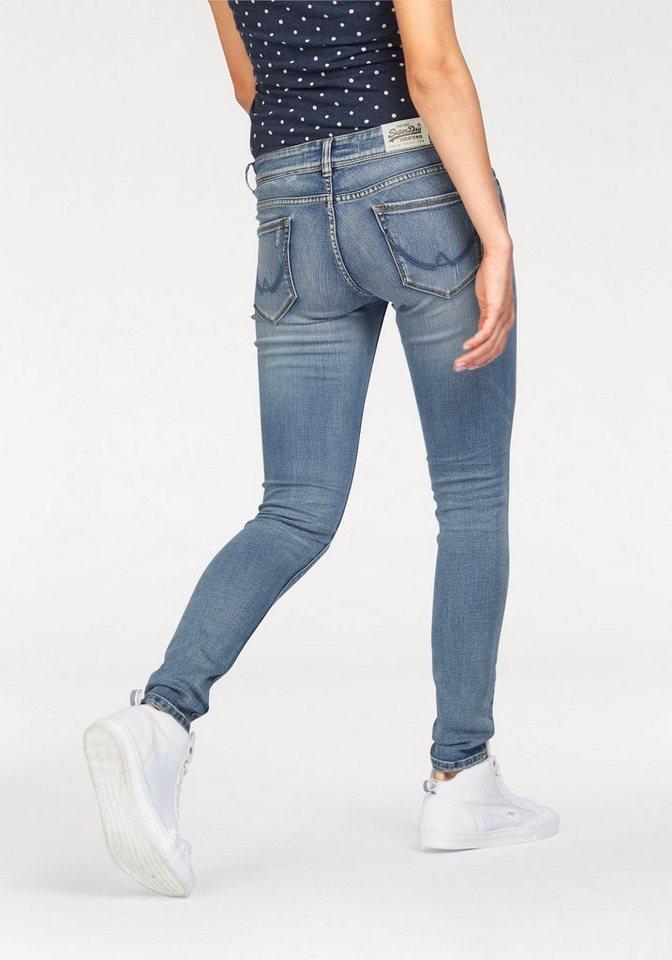 Superdry Skinny-fit-Jeans »CASSIE SKINNY« in mid-blue