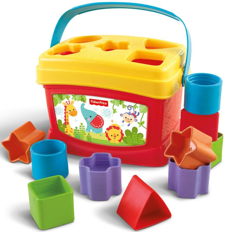 Fisher Price Steckspiel mit Eimer, »Babys erste Bausteine«