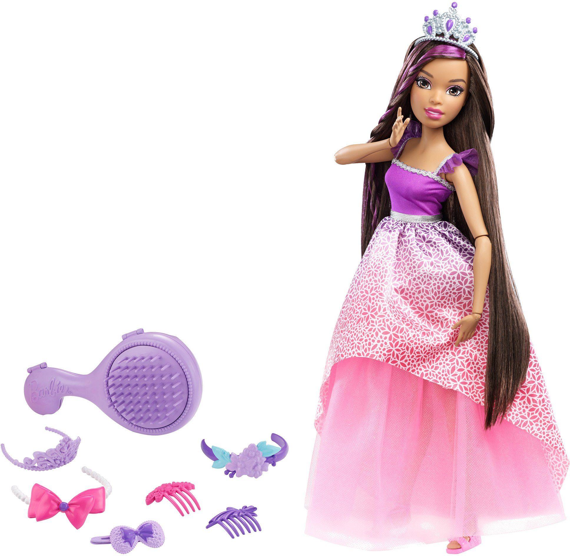 Mattel Puppe, »Barbie Das Große Zauberhaar Königreich Prinzessin Brünett«