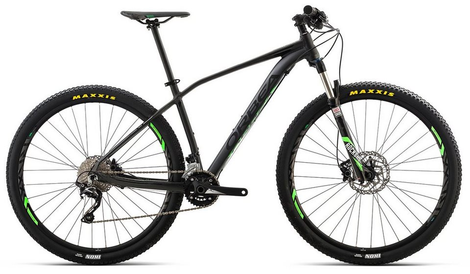 ORBEA Hardtail Mountainbike, 29 Zoll, 20 Gang Shimano SLX Kettenschaltung, »ALMA H50« in schwarz-grün