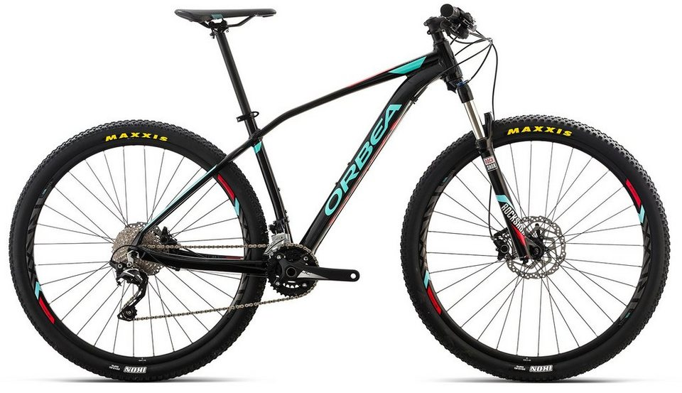 ORBEA Hardtail Mountainbike, 27,5 Zoll, 20 Gang Shimano SLX Kettenschaltung, »ALMA H50« in schwarz-blau-rot
