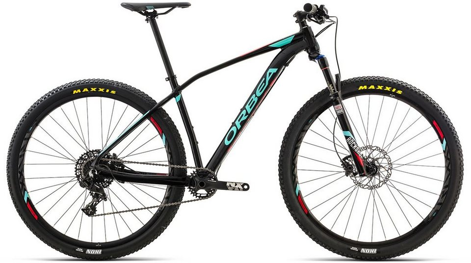 ORBEA Hardtail Mountainbike, 29 Zoll, 11 Gang SRAM NX Kettenschaltung, »ALMA H20« in schwarz-blau-rot