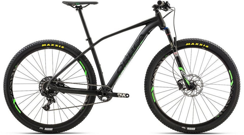 ORBEA Hardtail Mountainbike, 27,5 Zoll,11 Gang SRAM NX Kettenschaltung, »ALMA H20« in schwarz-grün