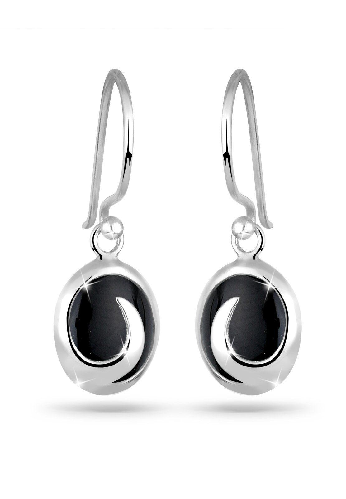 Elli Ohrringe »Onyx Wellen Edelstein 925 Silber«