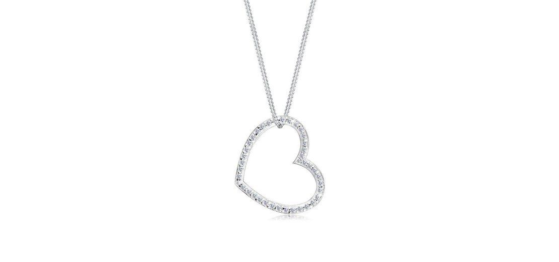 Elli Halskette »Herz Zirkonia 925 Sterling Silber«