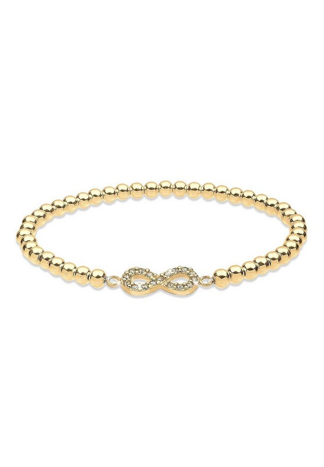 Goldhimmel Armband »Infinity Swarovski Kristalle 925 Silber« in Weiß