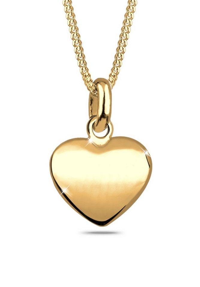 Goldhimmel Halskette »Herz Filigran Dünn 925 Sterling Silber« in Gold